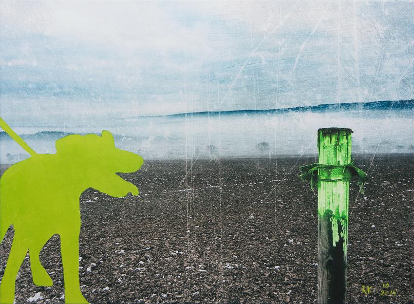 Dog in the fog - Fotokunst Kunstfotografie Ruth Kasper Stuttgart Karlsruhe Pforzheim